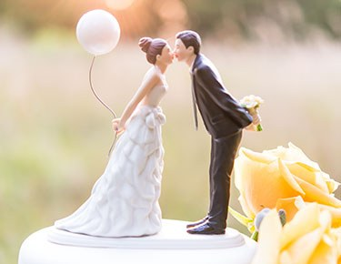 Wedding Cake Toppers  Figurines  Personalized   The Knot Shop Romantic Bride   Groom Cake Toppers