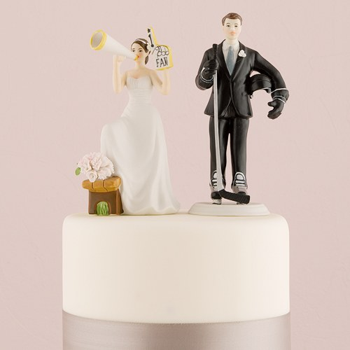 His Biggest Fan Bride and Groom Cake Topper   The Knot Shop His Biggest Fan Bride And Groom Cake Topper