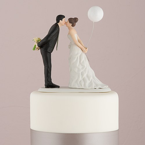 Leaning in for a Kiss  Balloon Wedding Cake Topper   The Knot Shop Leaning In For A Kiss   Balloon Wedding Cake Topper