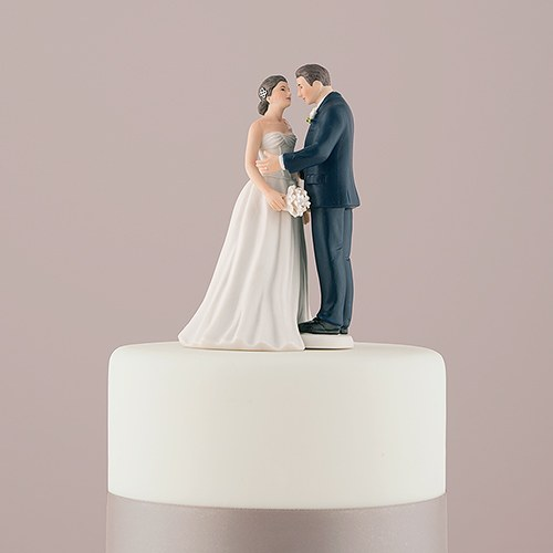 Contemporary Vintage Bride and Groom Porcelain Figurine Wedding Cake     Contemporary Vintage Bride And Groom Porcelain Figurine Wedding Cake Topper