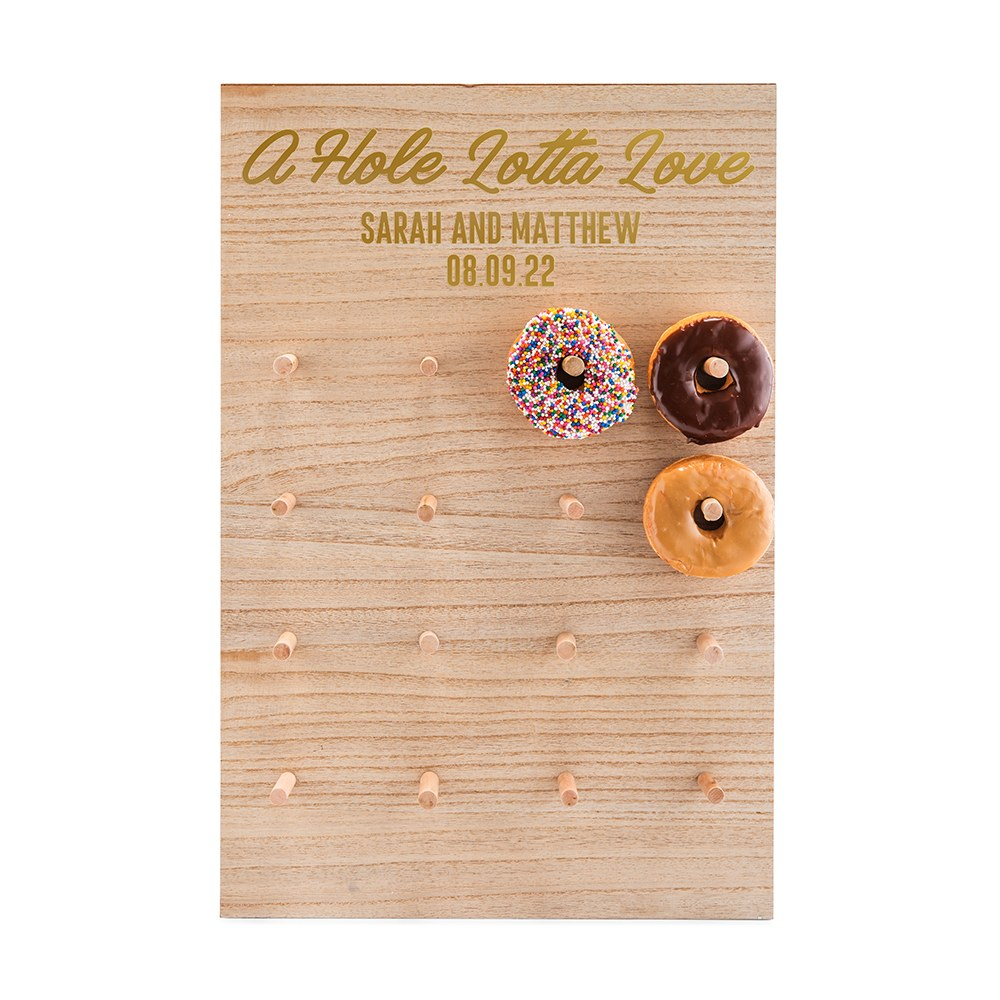 Download Personalized Wooden Donut Wall Display - Hole Lotta Love ...