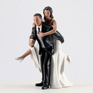 Football Bride And Groom Cake Topper The Knot Shop