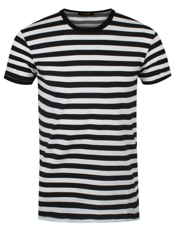 New Black and White Striped T-Shirt | eBay