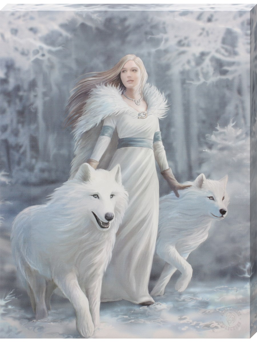 Anne Stokes Winter Guardian Canvas Print Buy Online At