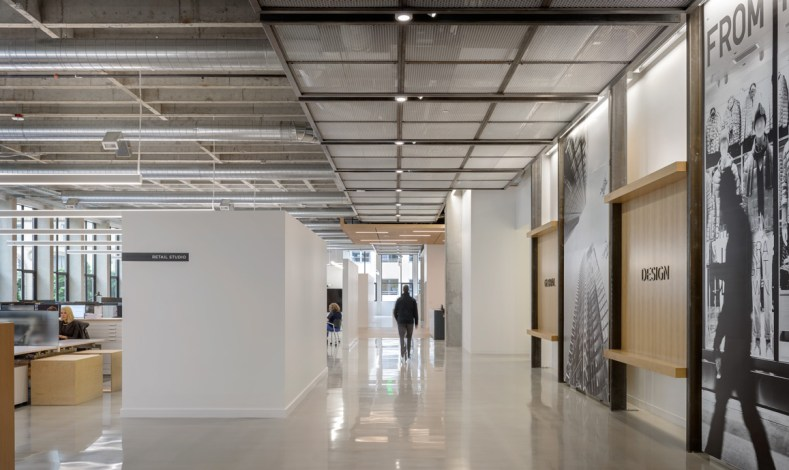 The first-floor entry and gallery space in MG2's Seattle office (Photo credit: Aaron Leitz)