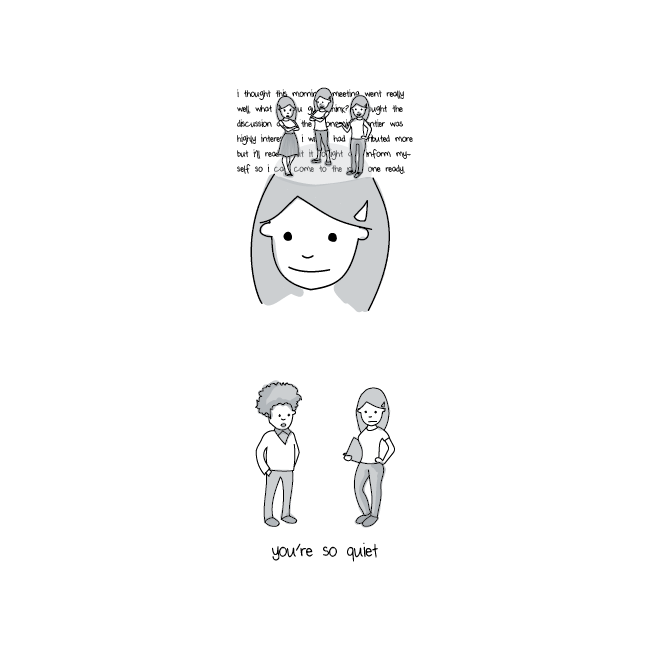 Illustration of introvert process