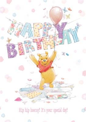 personalised winnie the pooh birthday