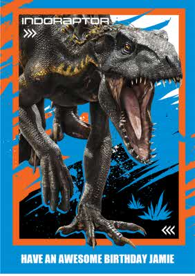 Birthday Card Dinosaurs Jurassic World Indoraptor