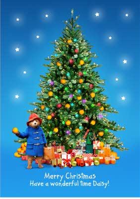 Paddington Bear Wonderful Christmas Tree Card Moonpig