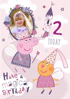 Peppa Pig 2nd Birthday Card Moonpig