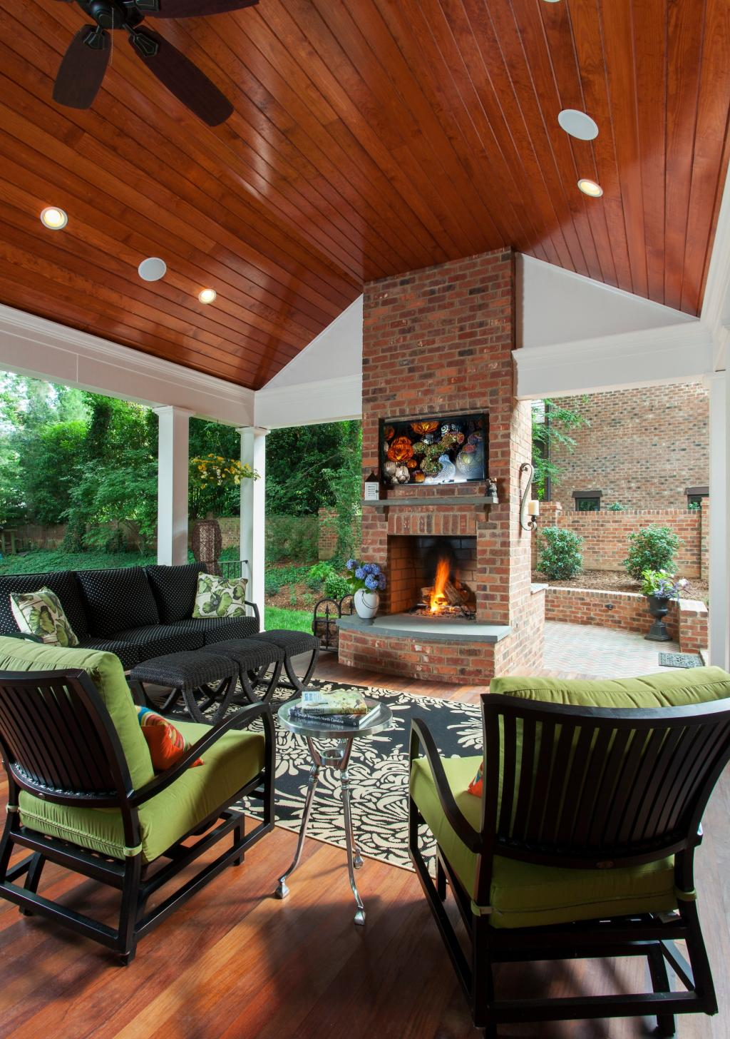 Forest Drive Covered Porch Renovation   Alair Homes Charlotte on Doobz Outdoor Living id=19805