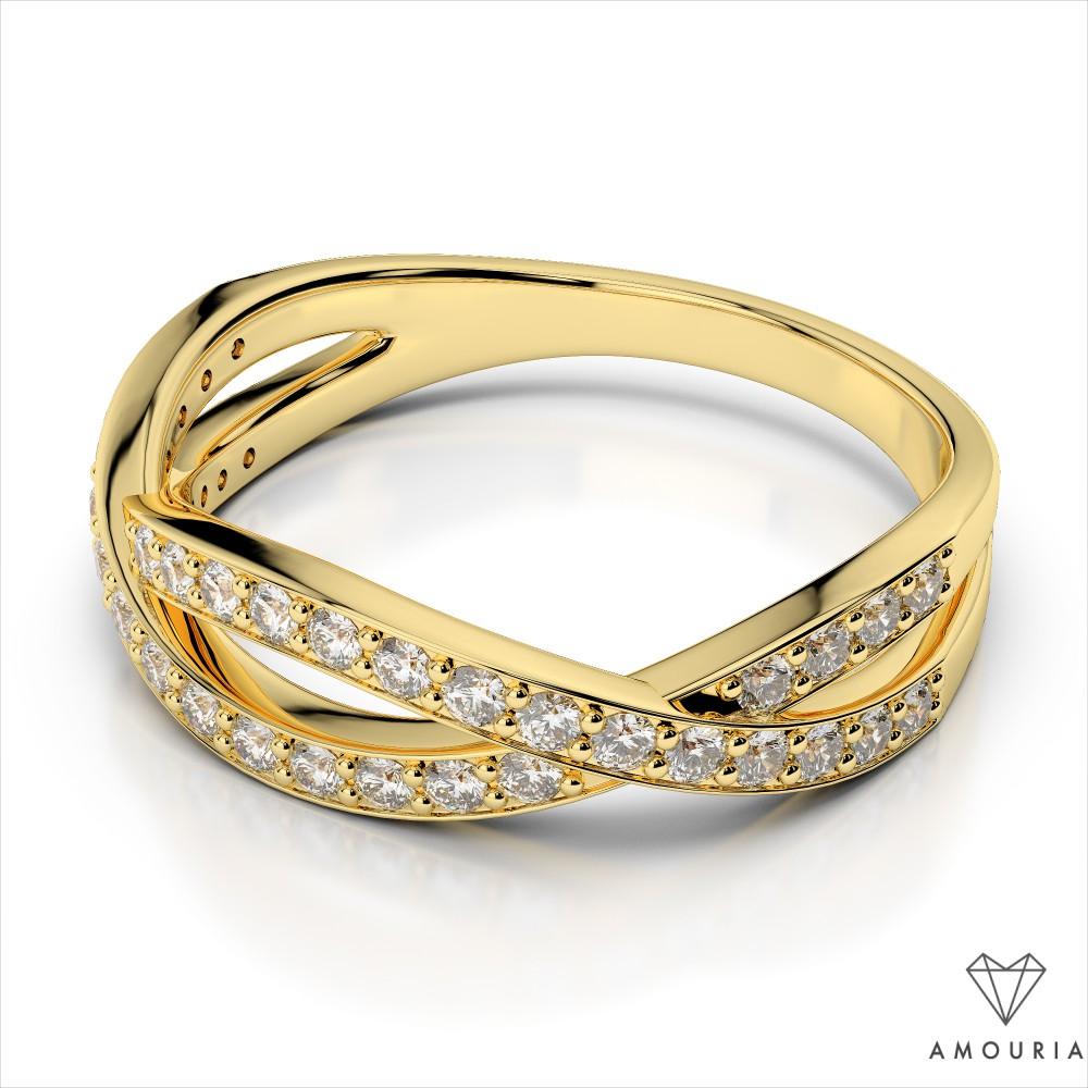 Crisscross Diamond Wedding Band Amouria