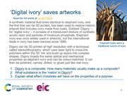 A preview of the starter slide about 3D printed digital ivory