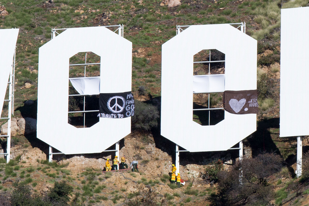 Hollyweed Remembering the heroes who changed the Hollywood sign to Hollyweed