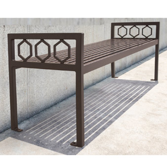 huntington outdoor backless bench 6 l