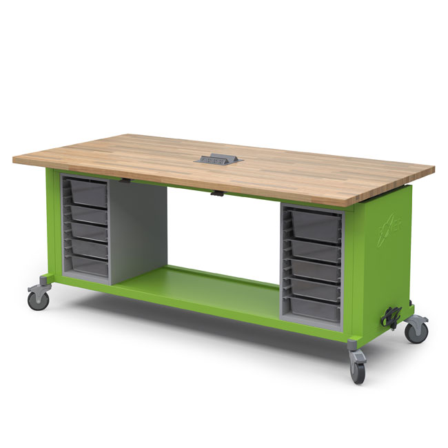 Haskell Rover Mobile Makerspace Table With Storage And
