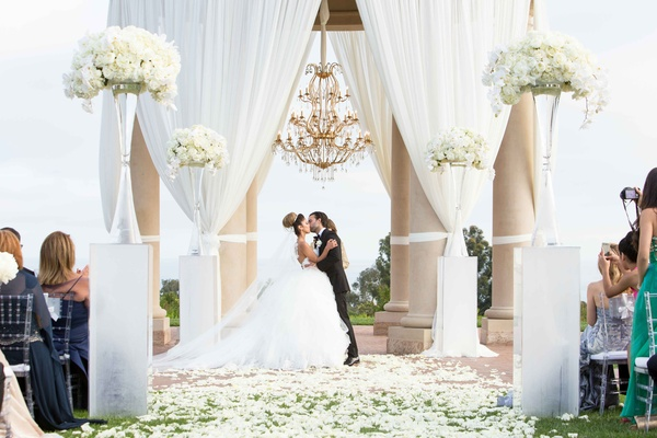 Persian-American Wedding With Mirror Detailing In Newport Beach, CA