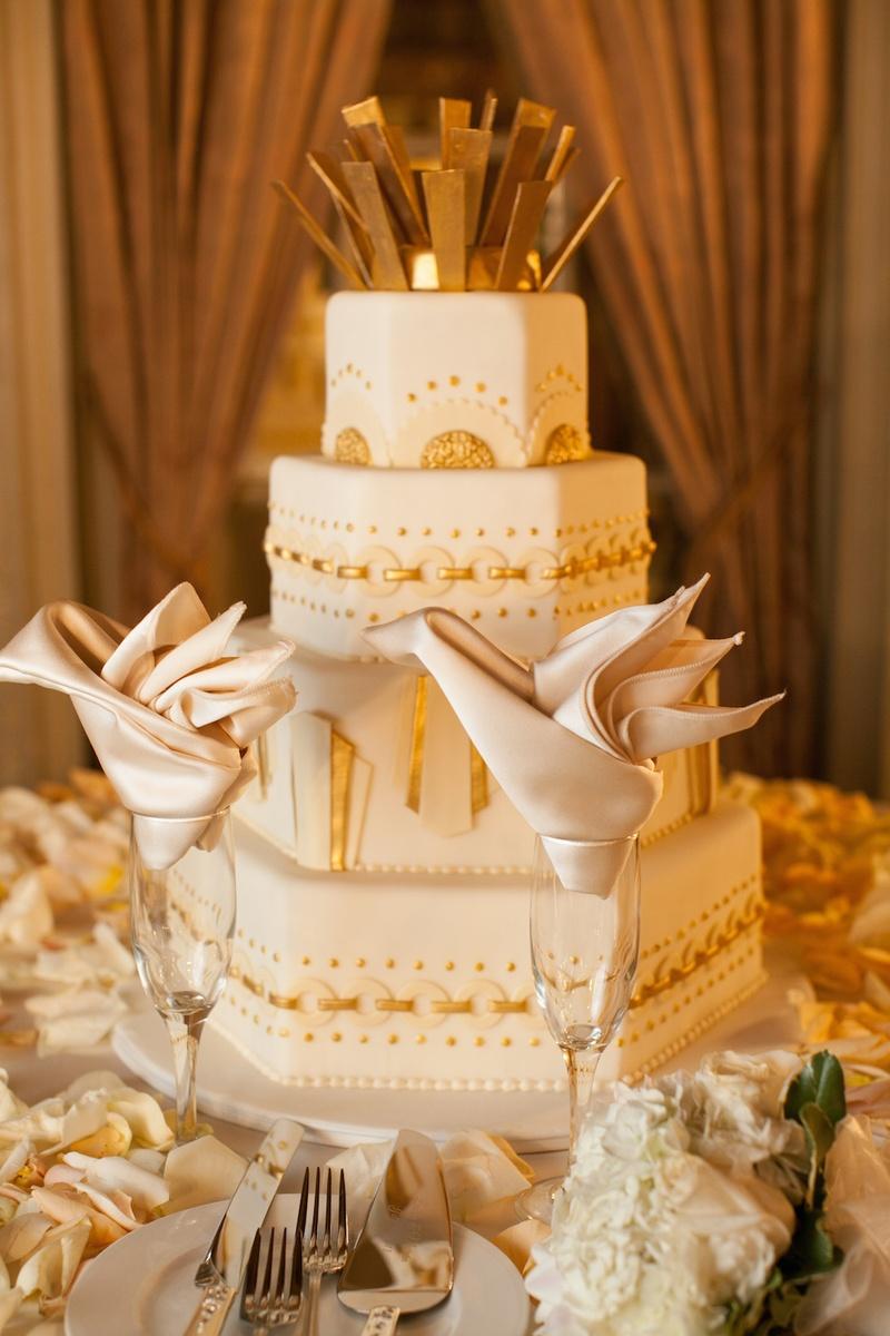 Cakes Amp Desserts Photos Art Deco Cake Inside Weddings