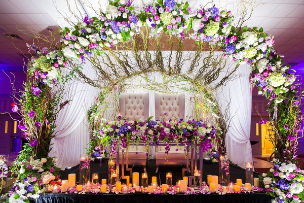 Classic Church Ceremony Ballroom Reception With Chic