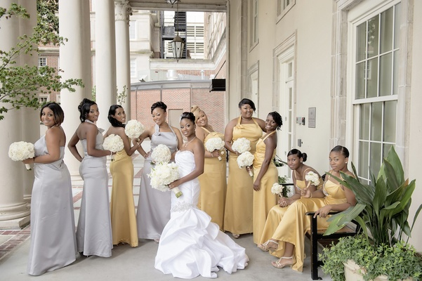 White, Silver & Gold Wedding At The Biltmore Ballrooms In
