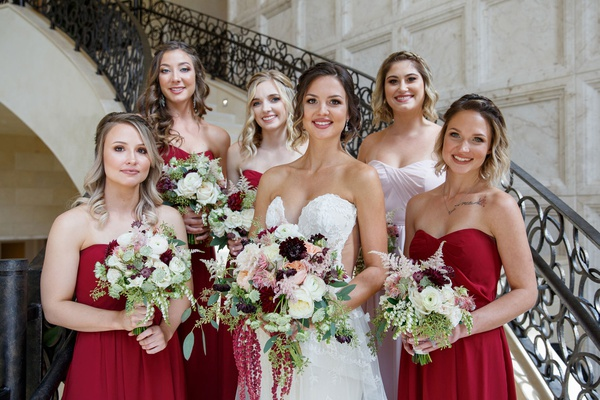 Elegant Fall Wedding With Burgundy & Gold Color Palette In