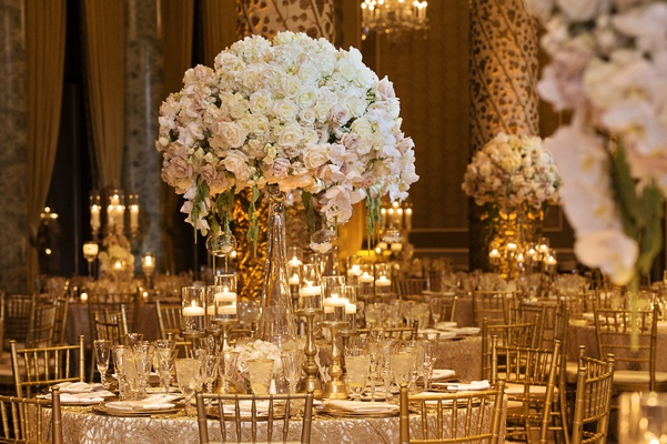 Elegant Wedding With Gold & Champagne Color Palette In