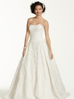 Oleg Cassini Spring 2015 Style Cwg670   Inside Weddings Oleg Cassini at David s Bridal CWG635 wedding dress