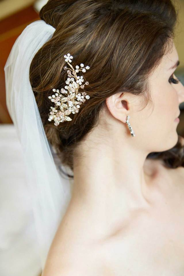 bridal accessories: headbands & headpieces - inside weddings