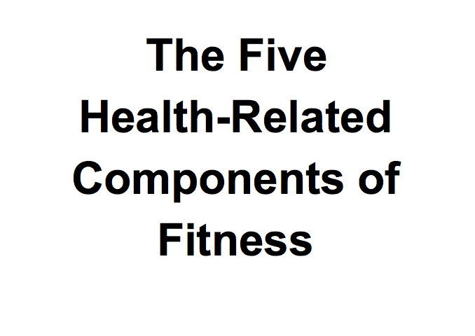 Definition Of 9 Components Physical Fitness | Kayafitness.co