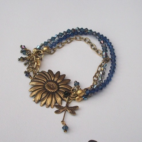 Swarovski sunflower bracelet by Bessie loves