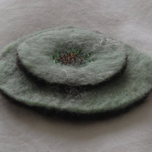 felted corsage