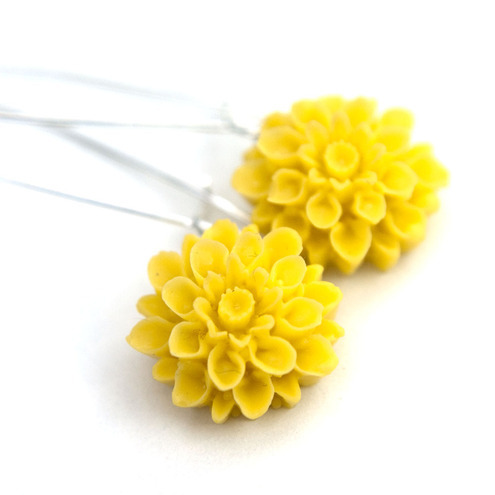happiness earrings- sunshine yellow from Chain of Daisies