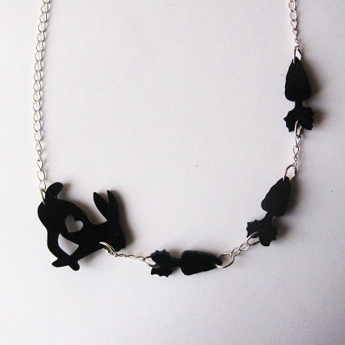 Hungry Bunny Necklace, CherryLoco Jewellery