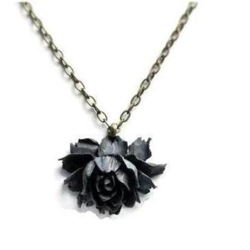 Black Rose necklace by SweetestThings