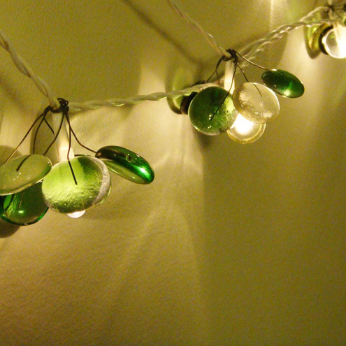 Fairy Lights, glass, green - Red Brick Glass