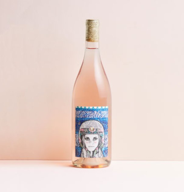 A light, fresh rosé blend of Grenache and Syrah from Santa Barbara County by Winc wine subscription.