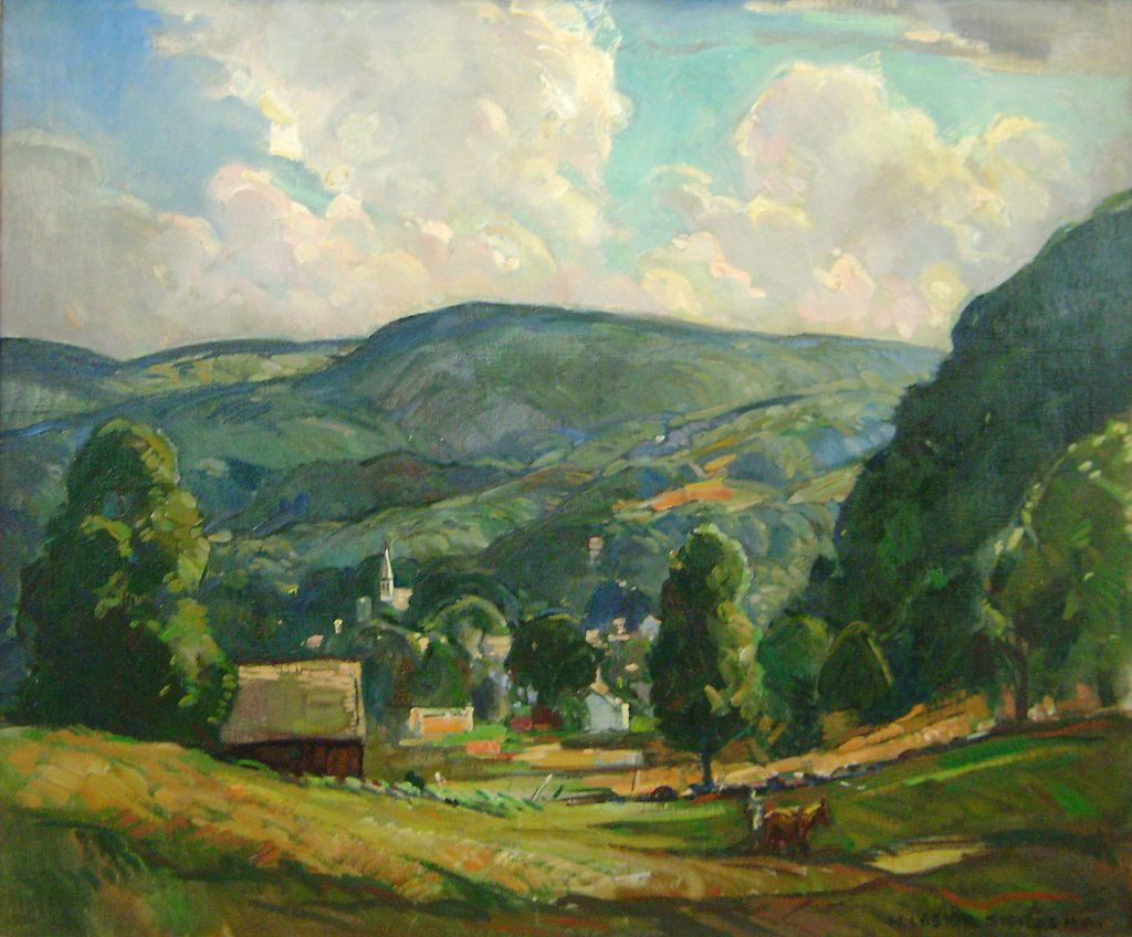 William Lester Stevens Oil Painting Of A Summer Afternoon