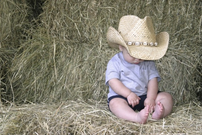 Cute Cowboy in Straw