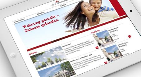 Homepage-Relaunch für die VOLKSWOHNUNG