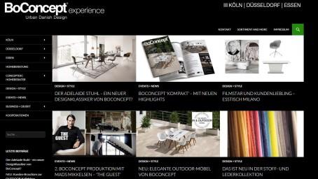 BoConcept Nordrheinwestfalen startet seinen neuen Design-Blog
