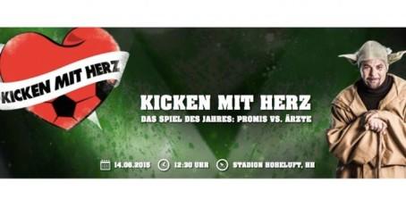 Seid dabei: 'Kicken mit Herz' am 14.6. – Promis vs. Ärzte