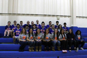 The HEHS athletes and partners: Back Row: Zach Zambio, Cesar Perez, Chris Smolik, Streten Rosic, Matt Sommerer, Anthony Dickey, Nick Mirich, Bryan Howard, Devan Patel. Middle Row: Zain Nasir, Michael Quiroz, Virginia Green, Ala Samara, partner Briana Sawtell. Front Row: partners Kelly Grudzinski, Jillian Steinmiller, Kayla Majeske, Taylor Osterman, Nicole Swietek, Tracy Cvitkovich, Eliza VanDertleyden, and Helena Mattson.