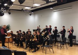 ach band participated in an educational clinic with a collegiate or professional jazz band director
