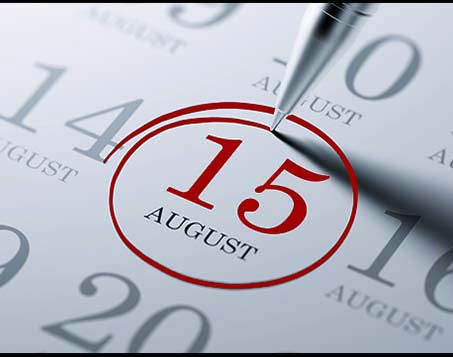 August 15th is the First Day of School