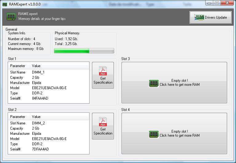 RamExpert: Mide la capacidad de tu RAM