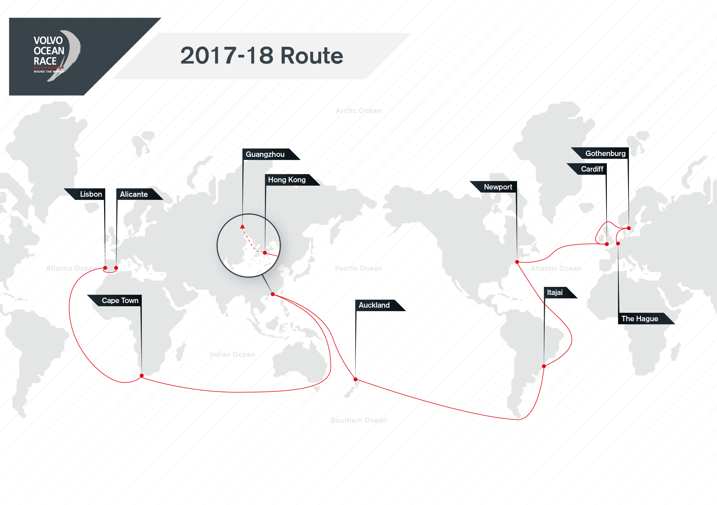 Volvo Ocean Race 18 Route Refreshed Volvo Ocean Race