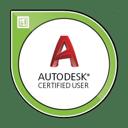 Autodesk Certified User AutoCAD Image