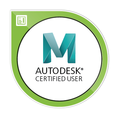 Autodesk Certified User Maya Image