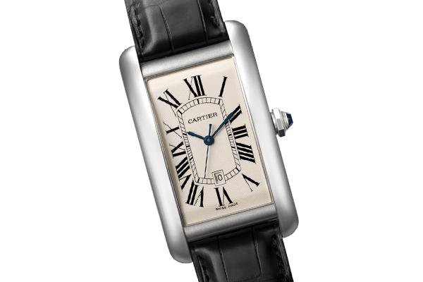 WatchTime Wednesday  The History of the Cartier Tank   Monochrome     Cartier Tank Am    ricaine