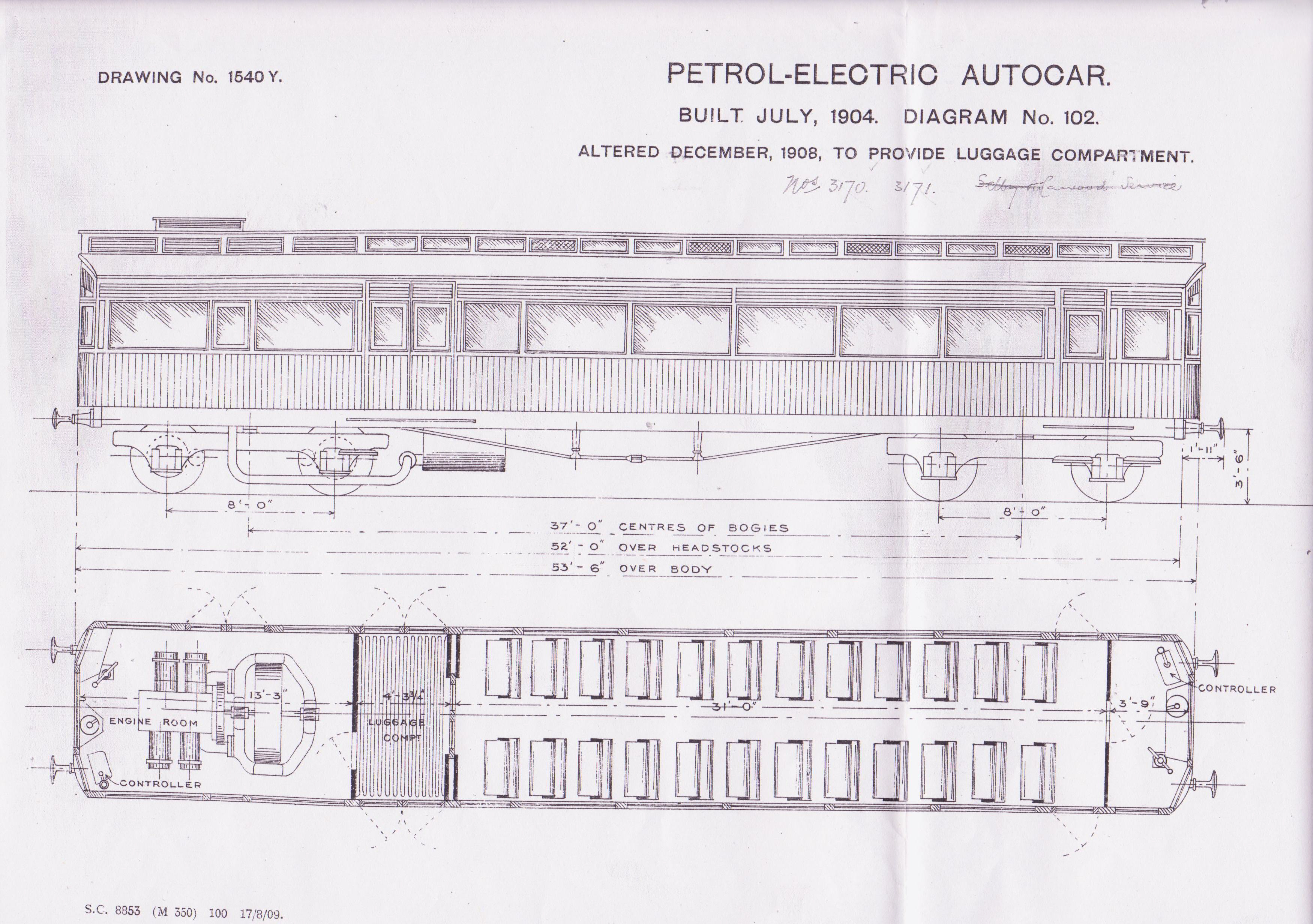 Lner Encyclopedia The Ner Petrol Electric Autocars